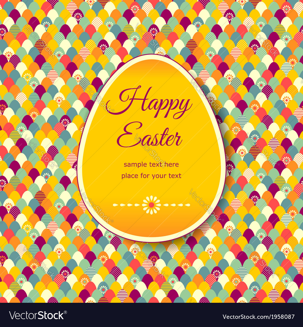 Pattern easter banner vector | Price: 1 Credit (USD $1)