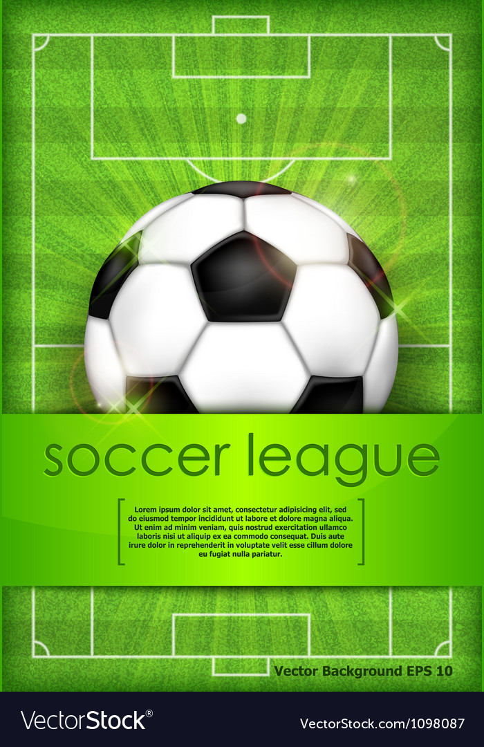 Playing field ball green background soccer vector | Price: 3 Credit (USD $3)