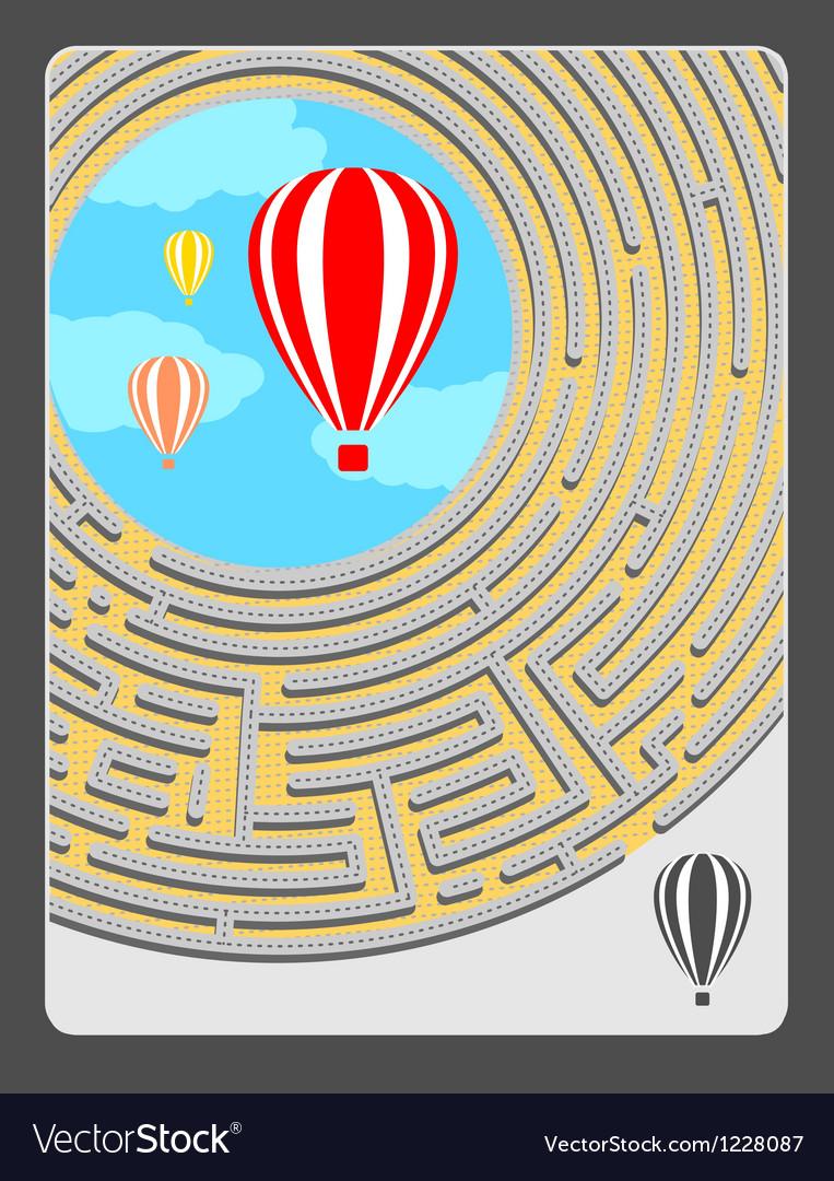 Round maze vector | Price: 1 Credit (USD $1)