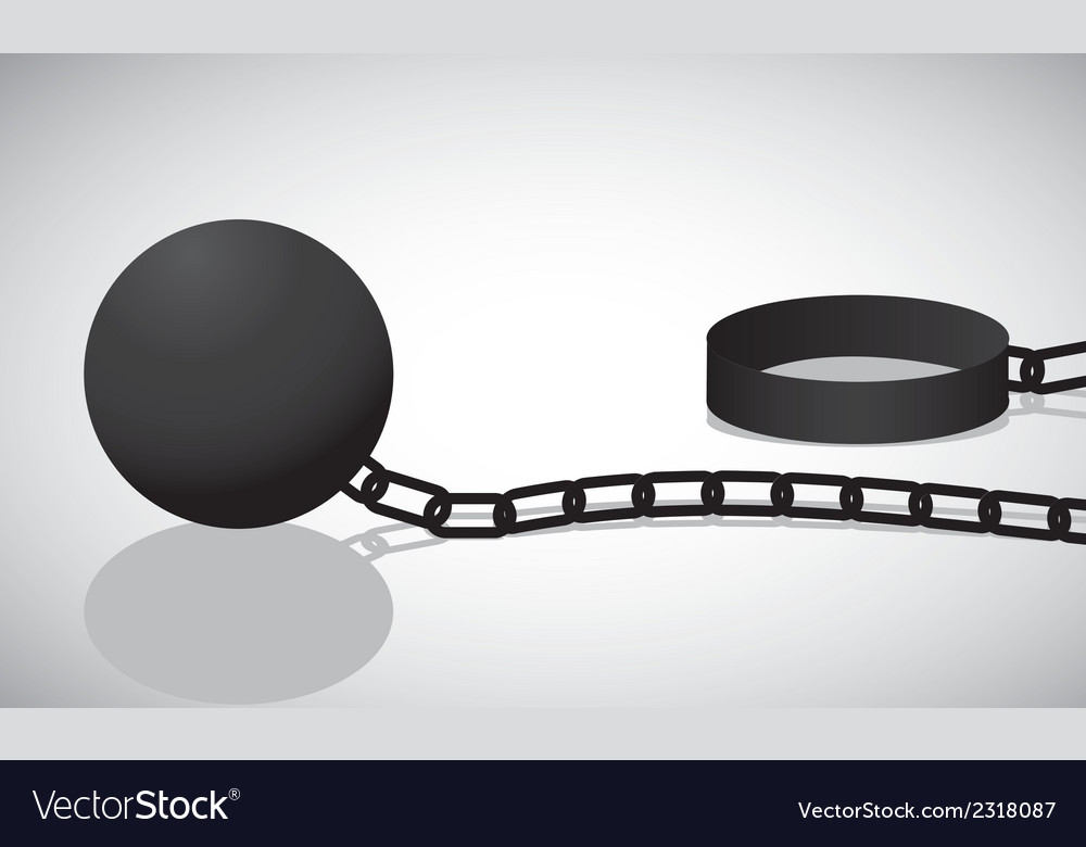 Shackle black silhouette isolated on white backgro vector | Price: 1 Credit (USD $1)