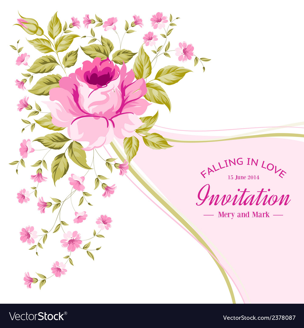 Spring flower for vintage card vector | Price: 1 Credit (USD $1)