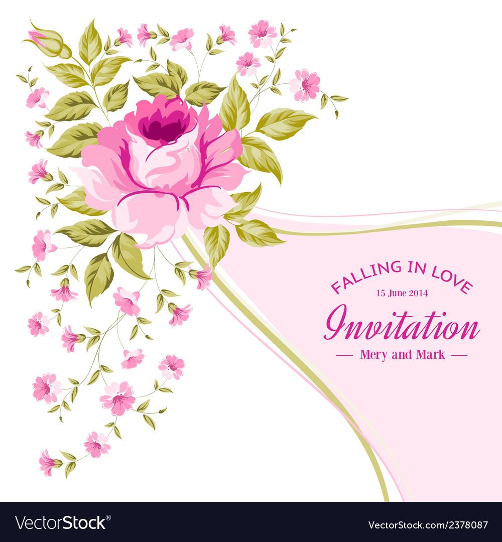 Spring flower for vintage card vector | Price: 1 Credit (USD $1)