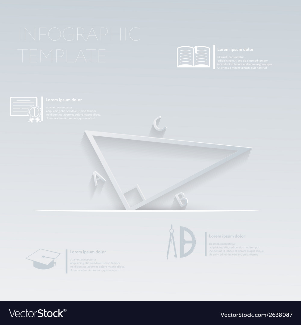 Triangle math template graphic or website vector   Price: 1 Credit (USD $1)