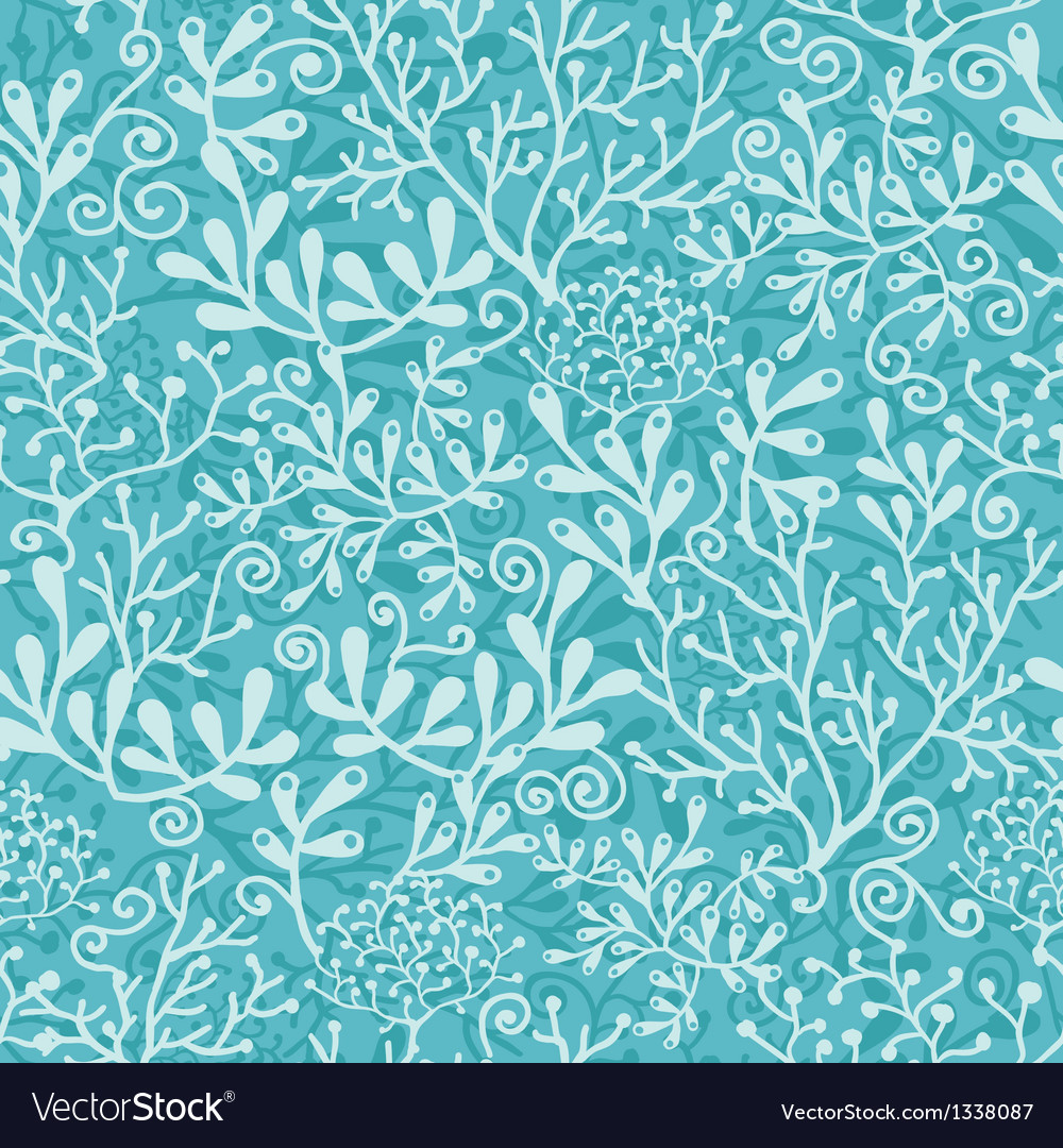 Underwater plants seamless pattern background vector | Price: 1 Credit (USD $1)