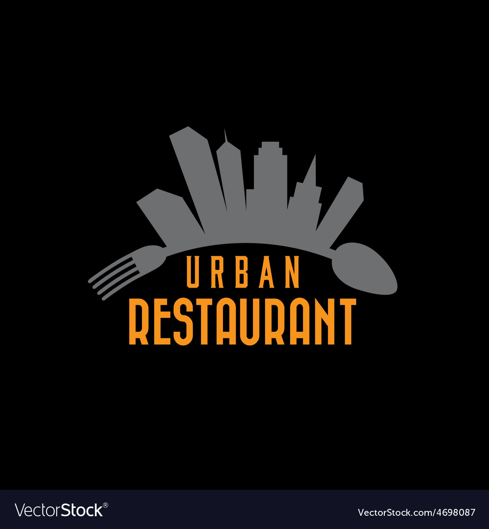 Urban restaurant design template vector | Price: 1 Credit (USD $1)