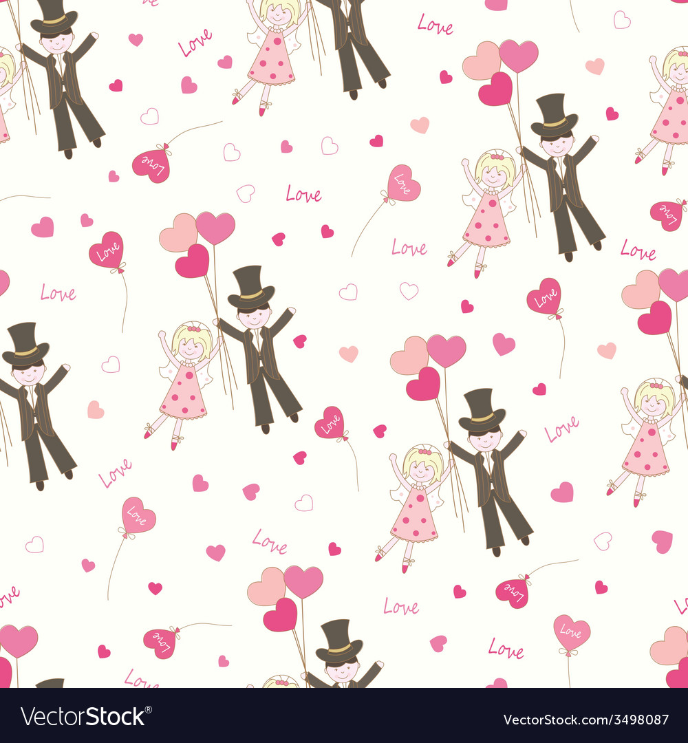 Valentines day seamless pattern vector | Price: 1 Credit (USD $1)