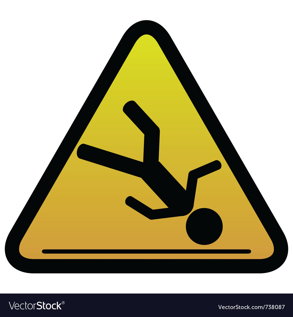 Warning sign slippery vector | Price: 1 Credit (USD $1)