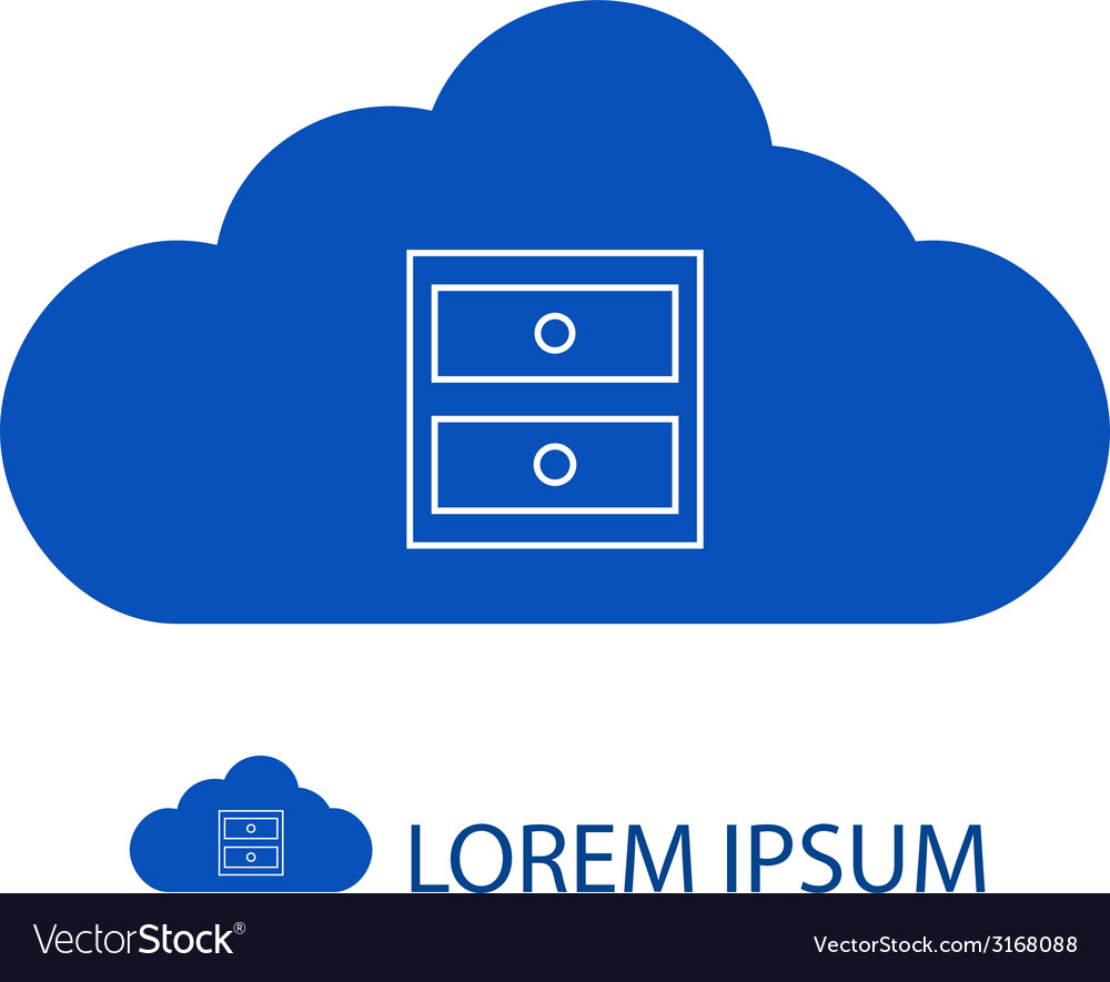 Blue cloud with chest of drawers vector | Price: 1 Credit (USD $1)