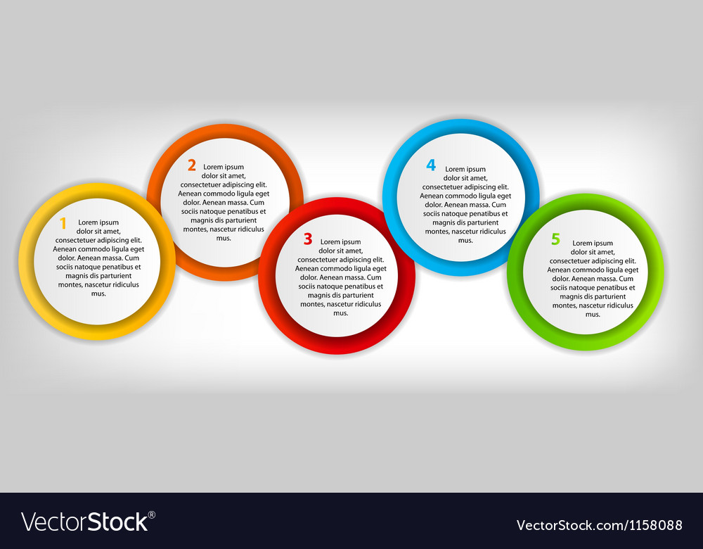 Concept of colorful circular banners with arrows vector | Price: 1 Credit (USD $1)