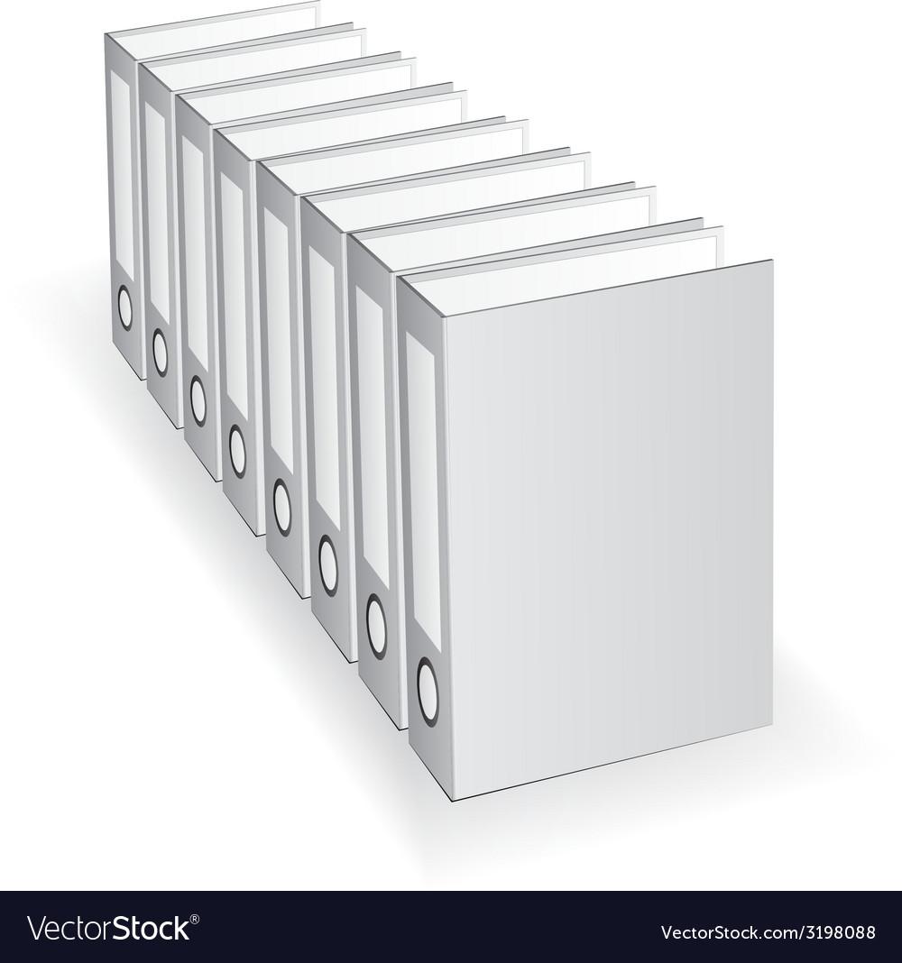 Folders vector | Price: 1 Credit (USD $1)