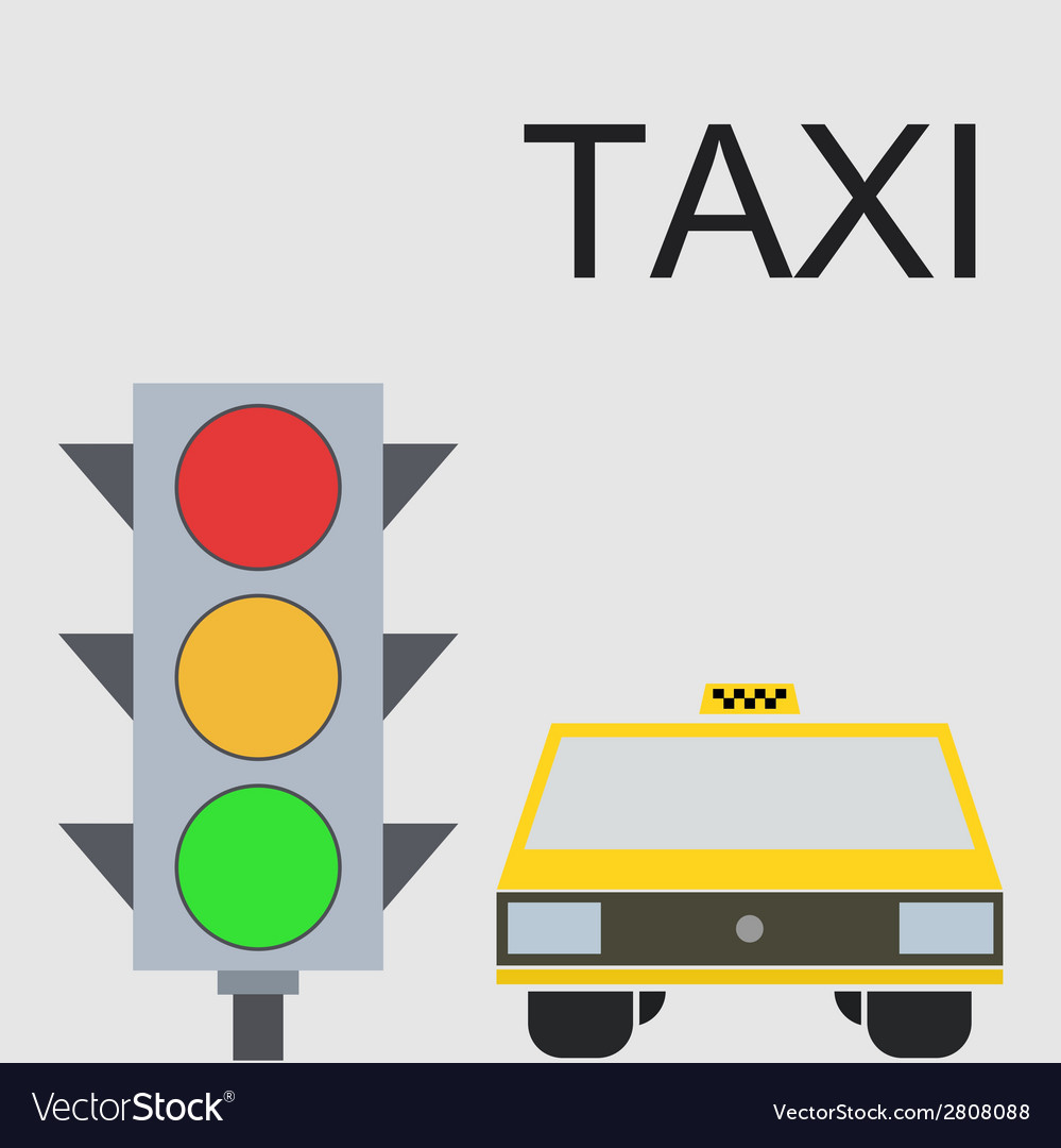 Modern taxi background vector | Price: 1 Credit (USD $1)