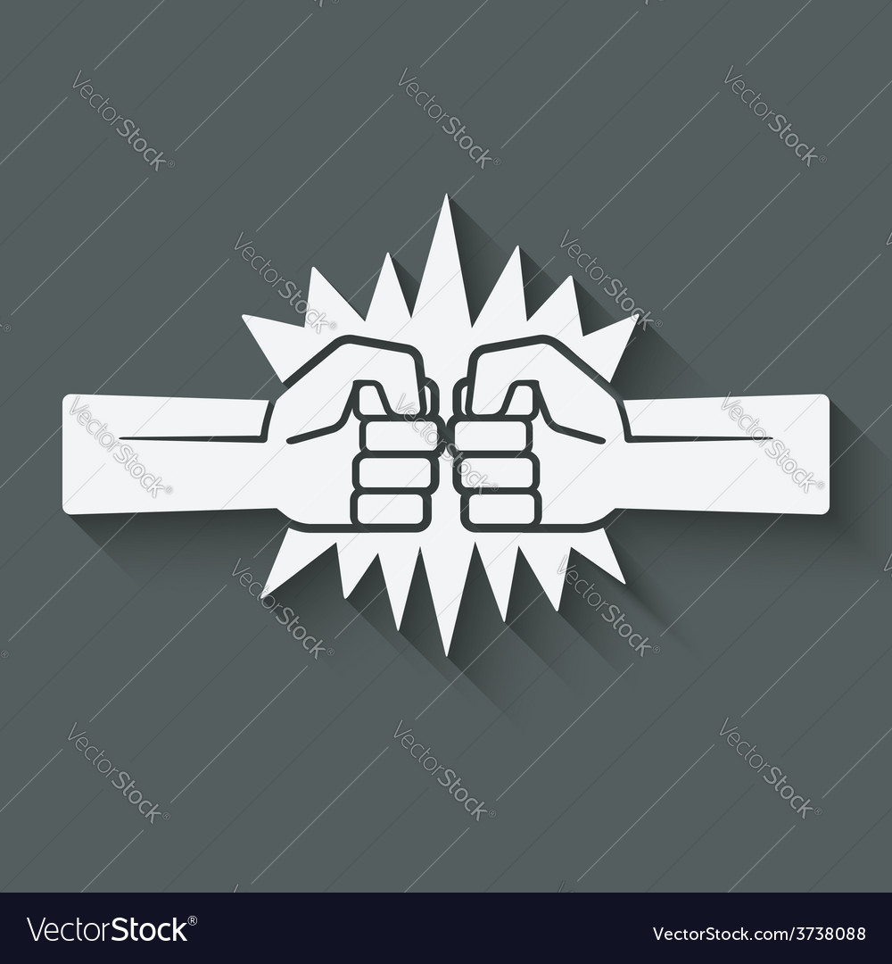 Punch fists fight symbol vector | Price: 1 Credit (USD $1)