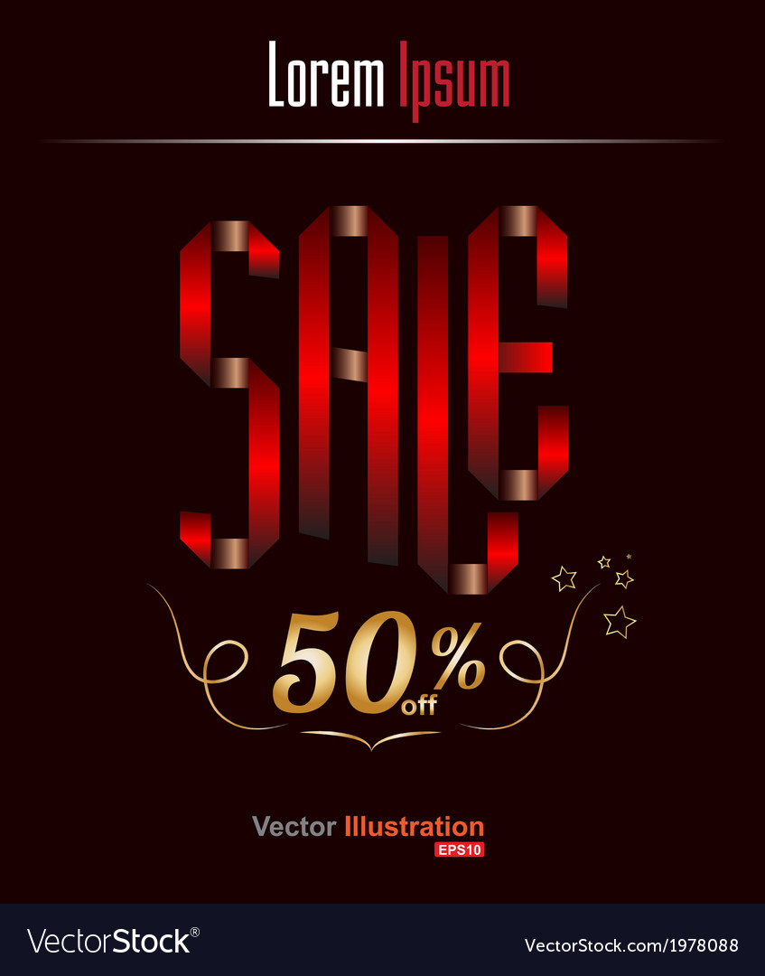 Sale 50 vector | Price: 1 Credit (USD $1)