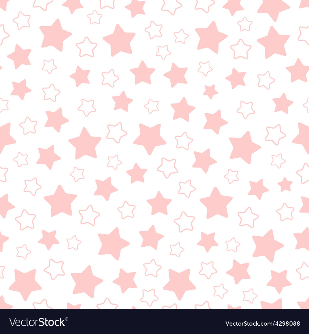 Seamless pattern of pink pentagonal stars vector | Price: 1 Credit (USD $1)