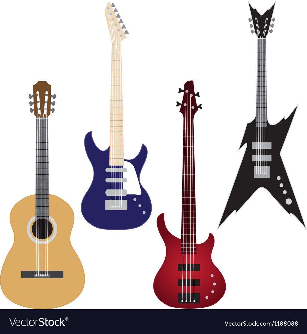 Set of guitars vector | Price: 1 Credit (USD $1)