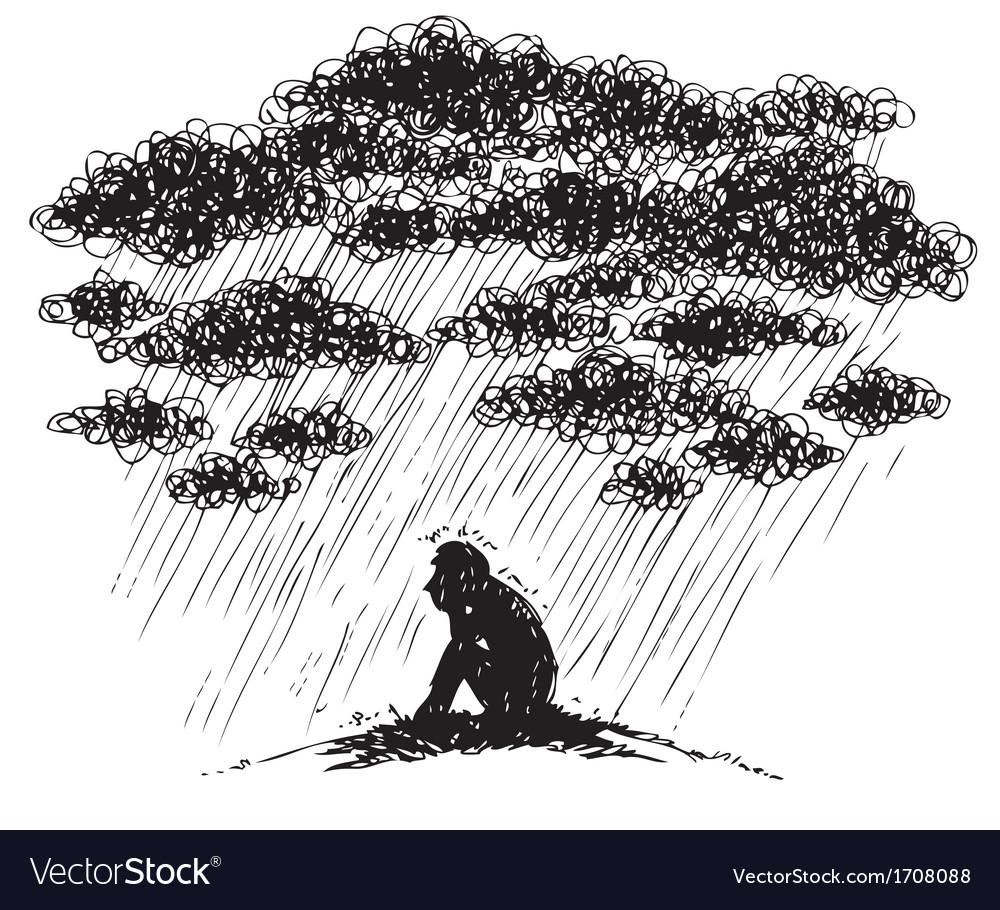 Sketchy depression vector | Price: 1 Credit (USD $1)