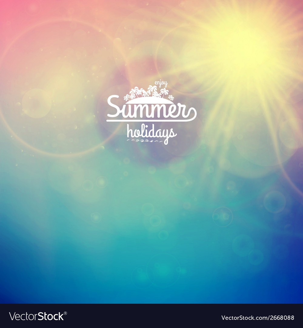 Summer holidays sunset with defocused lights vector   Price: 1 Credit (USD $1)