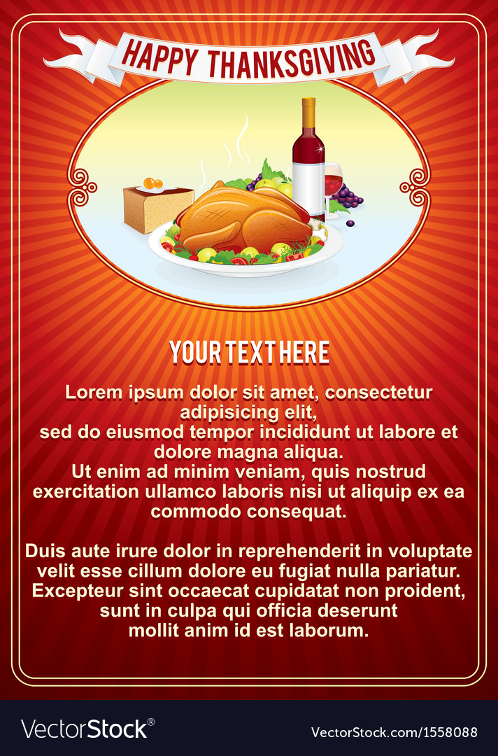 Thanksgiving vertical background template vector | Price: 1 Credit (USD $1)