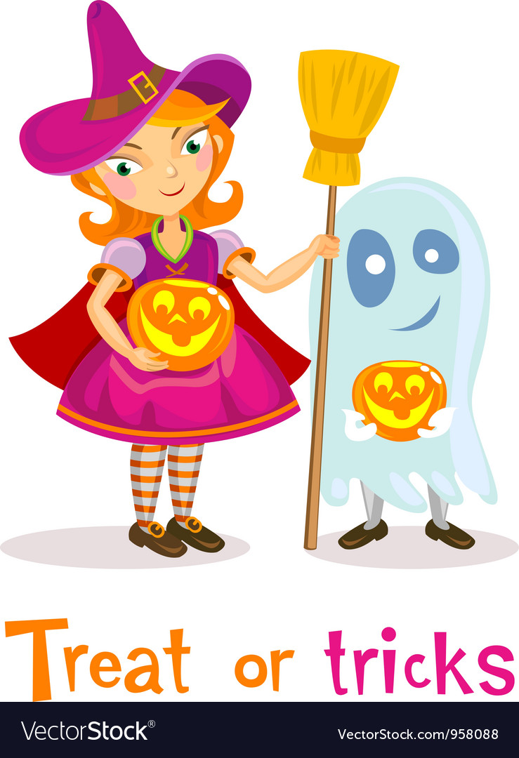 Treat or tricks vector | Price: 3 Credit (USD $3)