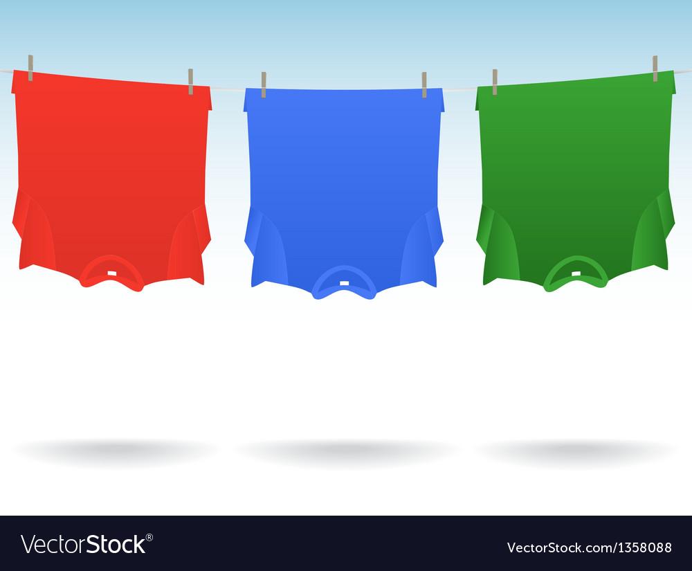 Tshirts clothesline vector | Price: 1 Credit (USD $1)