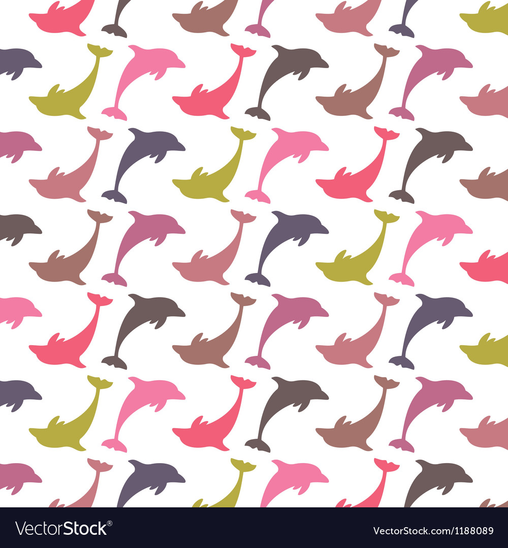 Colorful dolphin pattern vector   Price: 1 Credit (USD $1)
