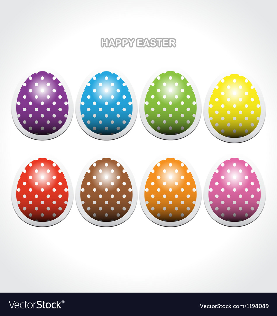 Easter egg stickers vector | Price: 1 Credit (USD $1)