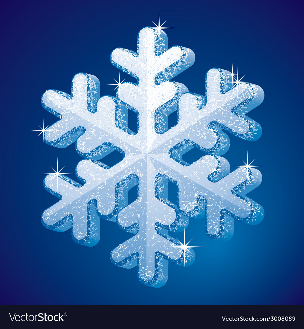 Frosted snowflake vector | Price: 1 Credit (USD $1)