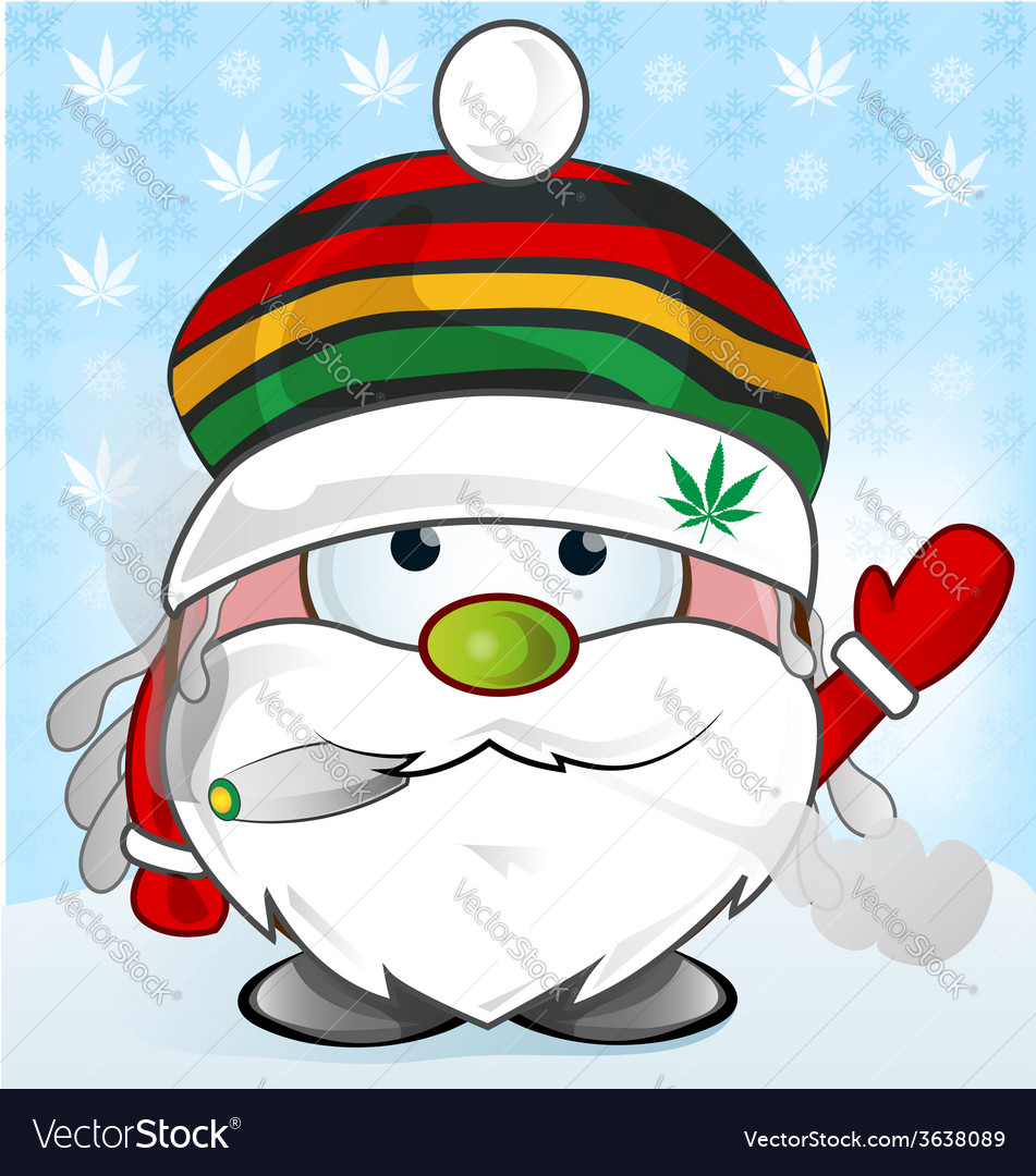 Jamaican santa claus cartoon vector   Price: 1 Credit (USD $1)