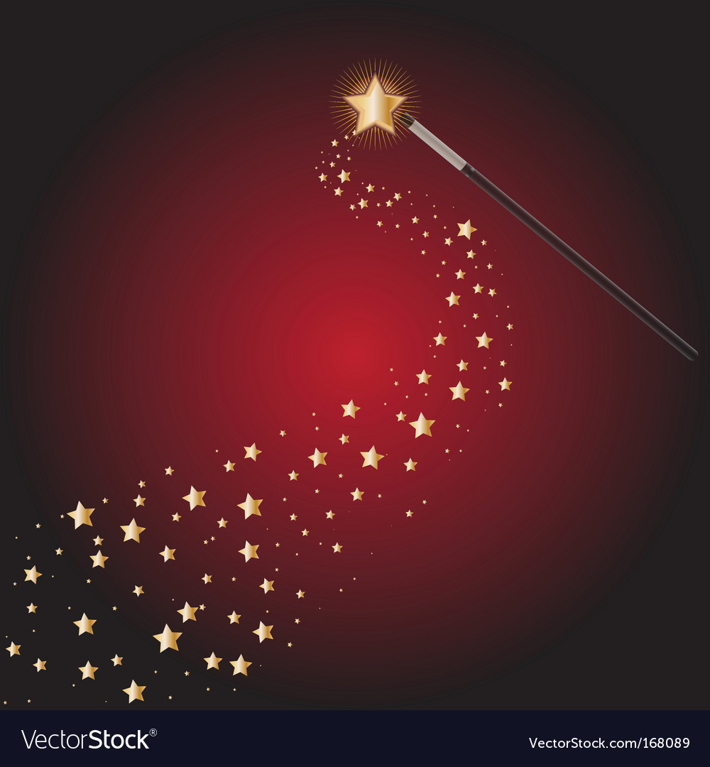 Magic wand with star trails vector | Price: 1 Credit (USD $1)