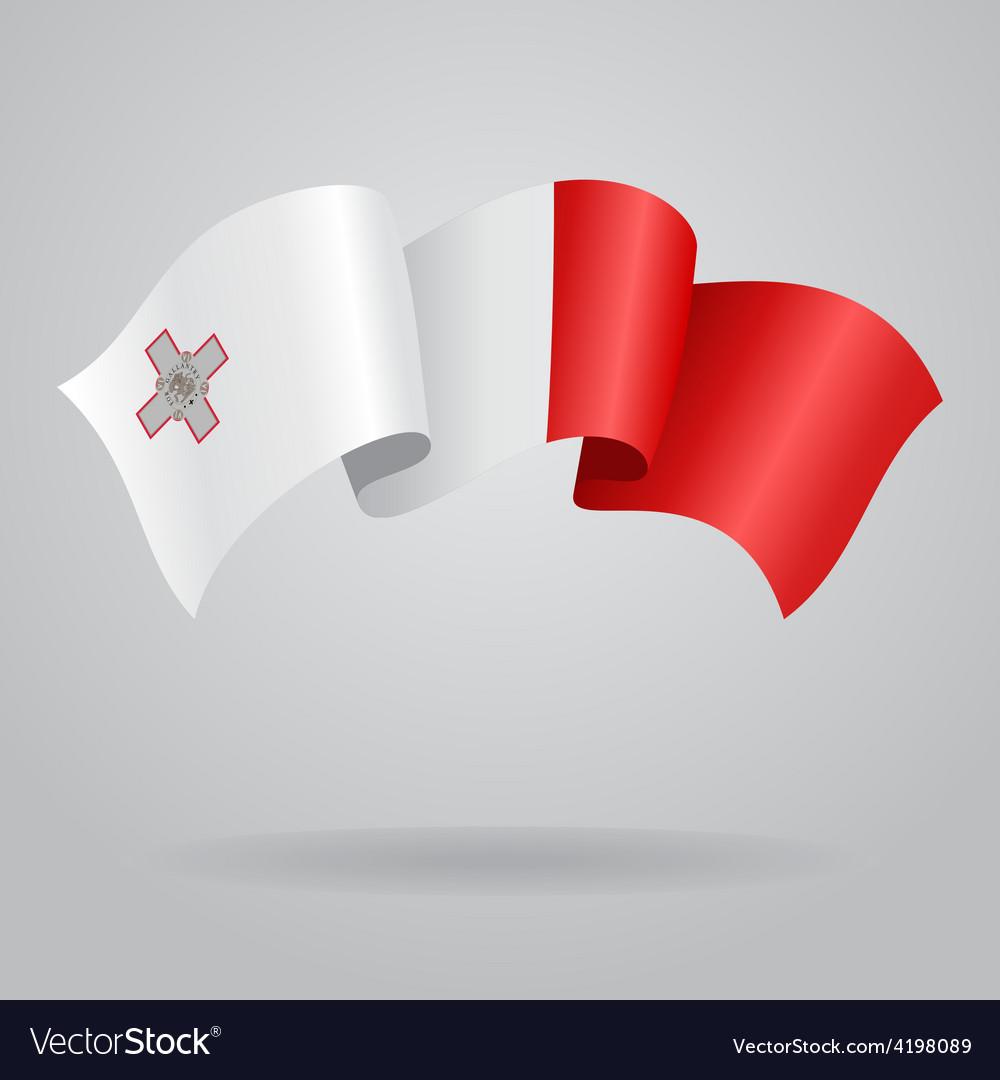 Maltese waving flag vector | Price: 1 Credit (USD $1)