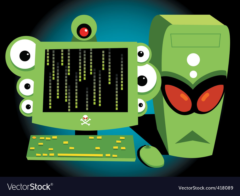 Monster personal computer vector | Price: 1 Credit (USD $1)