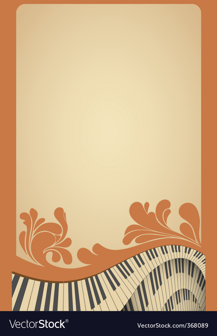 Piano poster vector | Price: 3 Credit (USD $3)