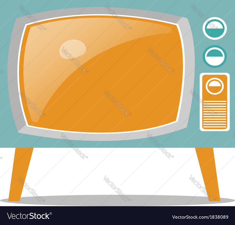 Retro television vector | Price: 1 Credit (USD $1)