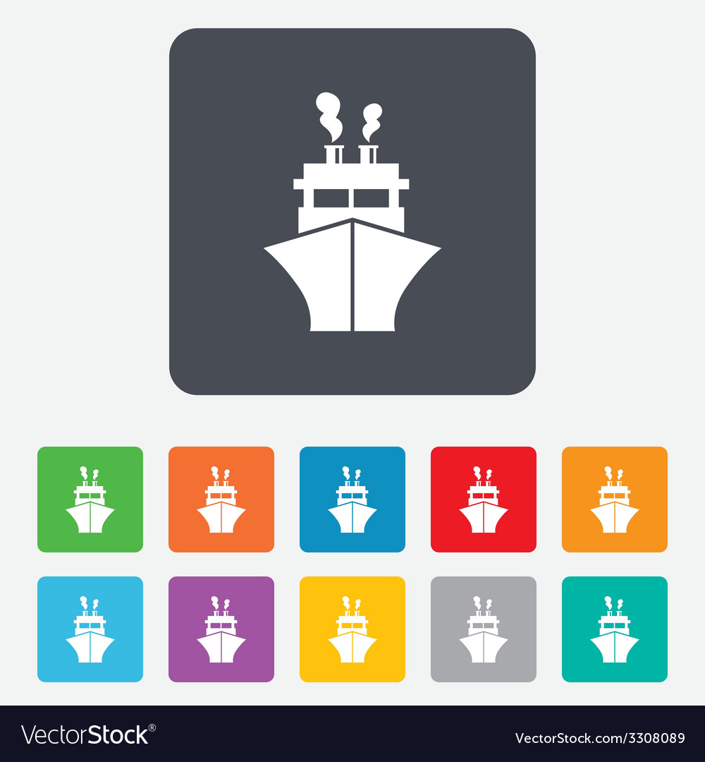 Ship or boat sign icon shipping delivery symbol vector | Price: 1 Credit (USD $1)