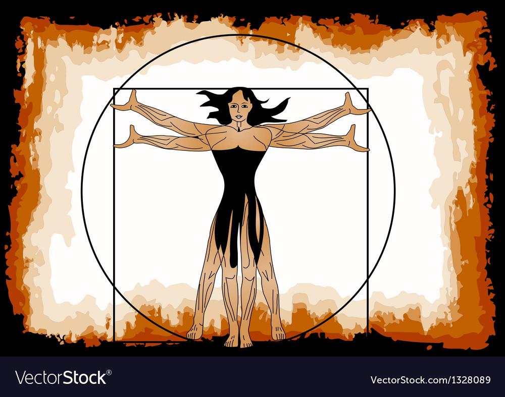 The vitruvian woman vector | Price: 1 Credit (USD $1)