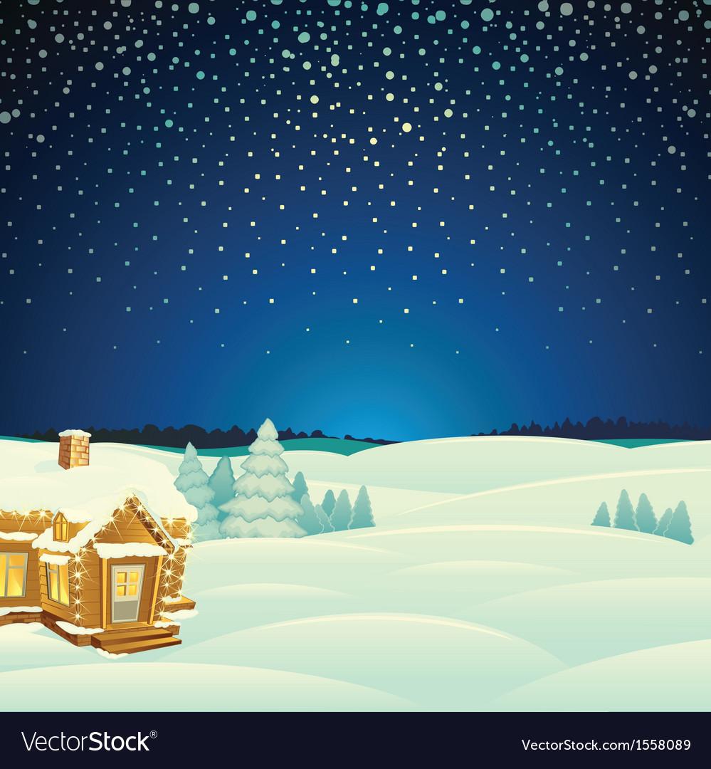 Winter landscape cartoon vector | Price: 1 Credit (USD $1)