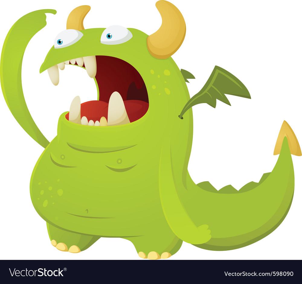 Cartoon dragon character vector | Price: 3 Credit (USD $3)