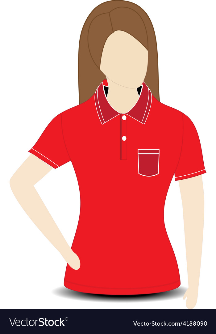 Female shirt template on the mannequin vector | Price: 1 Credit (USD $1)