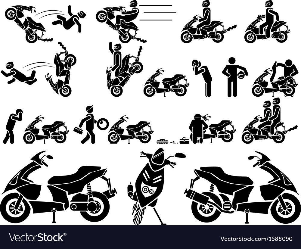 Icon man biker vector | Price: 1 Credit (USD $1)