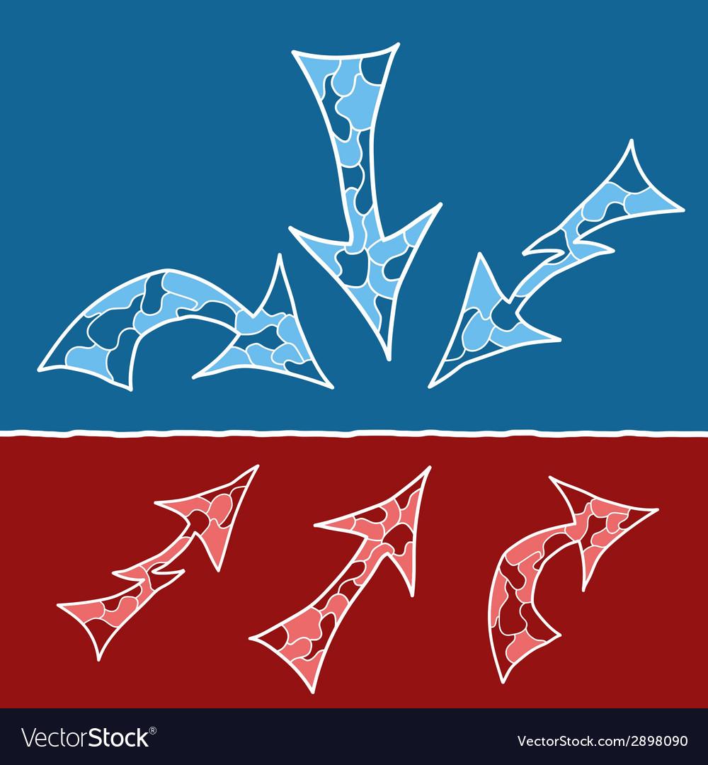 Mosaic doodle arrows vector   Price: 1 Credit (USD $1)