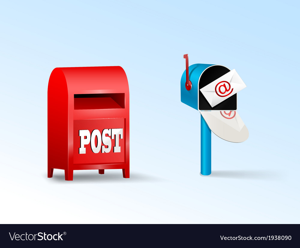 Post boxes vector | Price: 1 Credit (USD $1)