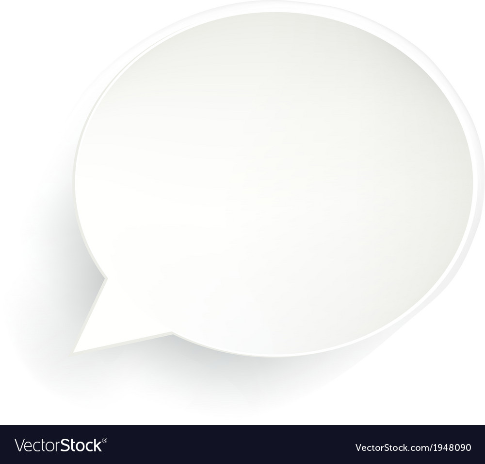 Speech bubble isolated vector | Price: 1 Credit (USD $1)