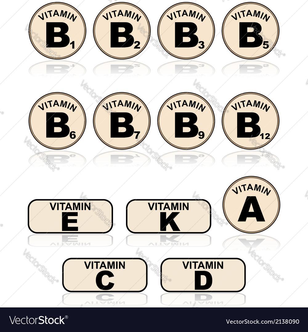 Vitamins vector | Price: 1 Credit (USD $1)