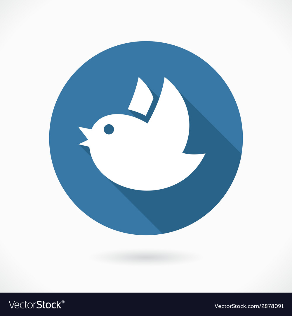 Blue flying bird icon vector | Price: 1 Credit (USD $1)