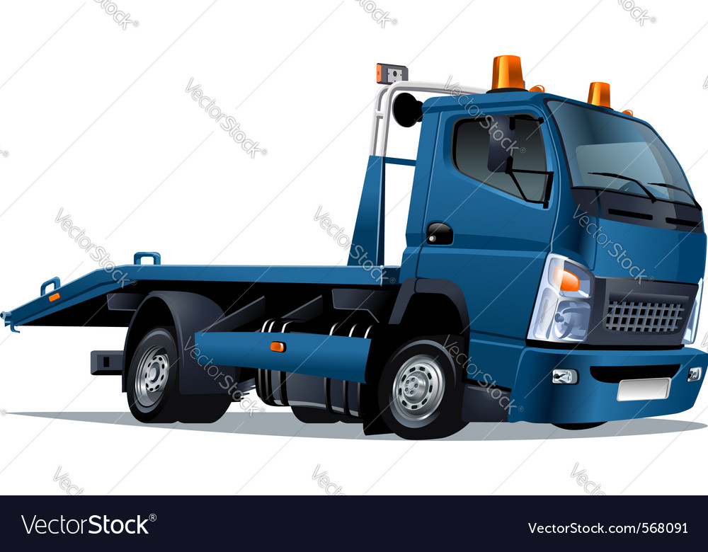 Cartoon tow truck vector | Price: 3 Credit (USD $3)