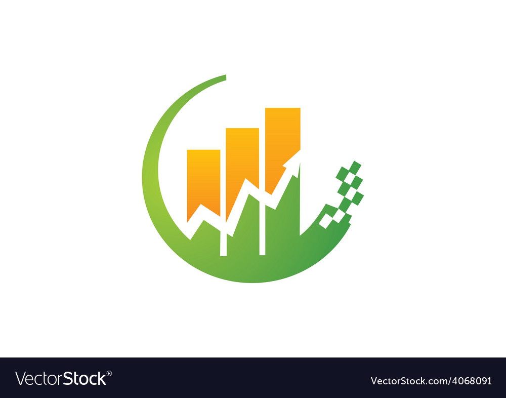 Finance graph arrow logo vector | Price: 1 Credit (USD $1)