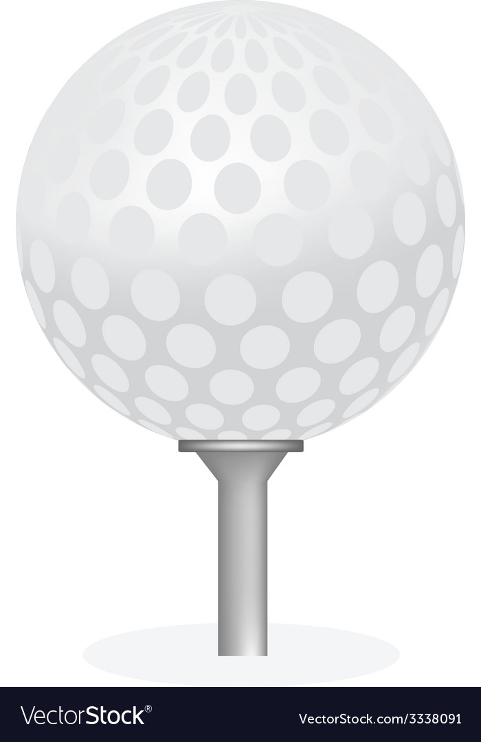 Golf ball on tee isolated vector | Price: 1 Credit (USD $1)