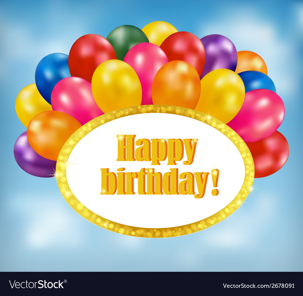 Happy birthday background vector | Price: 1 Credit (USD $1)