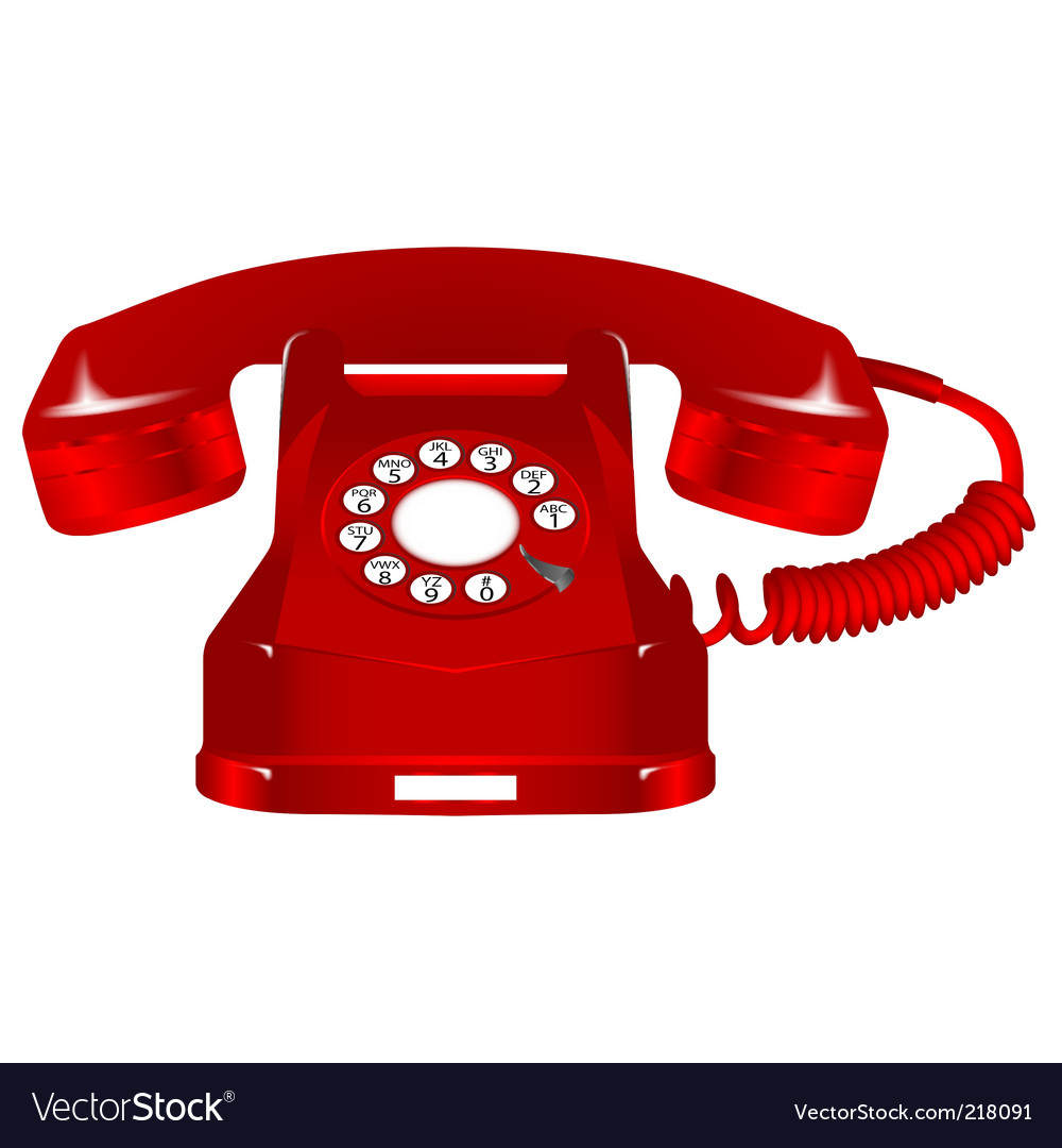 Retro telephone vector | Price: 3 Credit (USD $3)