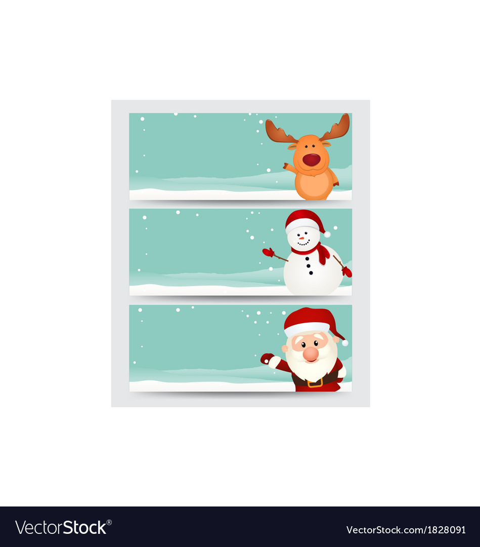 Set of christmas banner vector | Price: 1 Credit (USD $1)